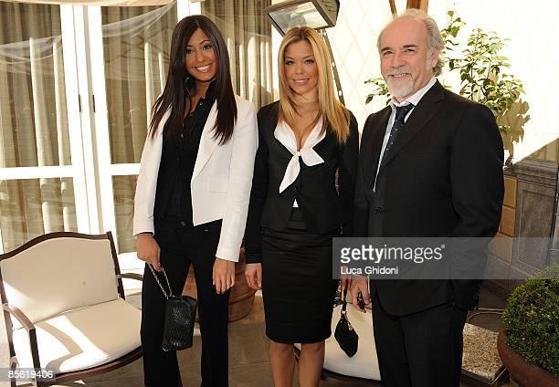 Federica Nargi Costanza Caracciolo and Antonio Ricci attend the 2008 E' Giornalismo award on March 26 2009 in Milan Italy Attilio Bolzoni of 'la...