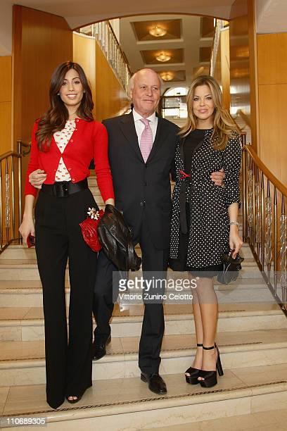 """Federica Nargi, Giancarlo Aneri, Costanza Caracciolo attend the """"Premio E' Giornalismo 2010"""" Cocktail held at Hotel Four season on March 23, 2011 in..."""