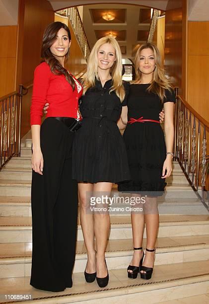 """Federica Nargi, Michelle Hunziker, Costanza Caracciolo attend the """"Premio E' Giornalismo 2010"""" Cocktail held at Hotel Four season on March 23, 2011..."""