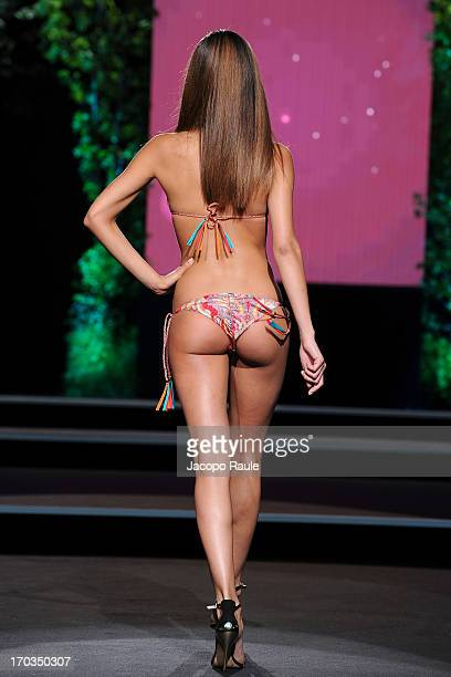 Federica Nargi walks the runway at the Goldenpoint fashion show during Glamour Live Show on June 11 2013 in Milan Italy