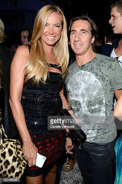 Federica Panicucci and Mario Fargetta attend the new Just Cavalli boutique opening party as part of Milan Womenswear Fashion Week on September 21,...