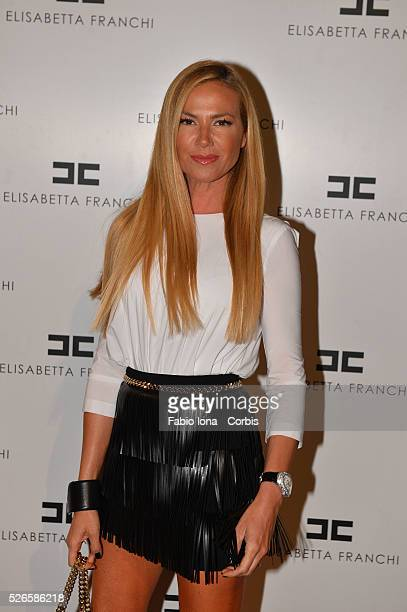 Federica Panicucci arrives at the Elisabetta Franchi show as a part of Milan Fashion Week Womenswear Spring/Summer 2014 at on September 19, 2013 in...