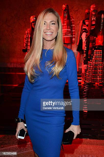 Federica Panicucci attends Fausto Puglisi presentation during Milan Fashion Week Womenswear Fall/Winter 2013/14 on February 22, 2013 in Milan, Italy.