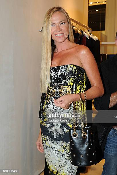 Federica Panicucci attends Roberto Cavalli Cocktail during Milan Vogue Fashion Night Out at on September 17 2013 in Milan Italy