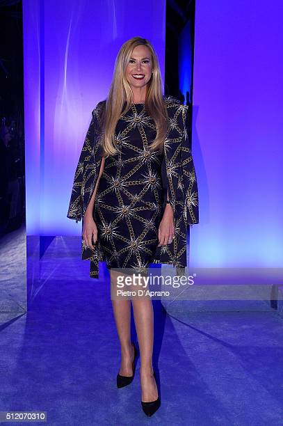 Federica Panicucci attends the Fausto Puglisi show during Milan Fashion Week Fall/Winter 2016/17 on February 24 2016 in Milan Italy