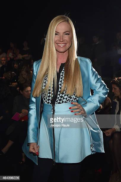 Federica Panicucci attends the Fausto Puglisi show during the Milan Fashion Week Autumn/Winter 2015 on February 25, 2015 in Milan, Italy.
