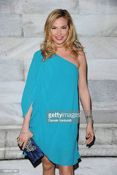 Federica Panicucci attends the Roberto Cavalli fashion show as part of Milan Fashion Week Womenswear Autumn/Winter 2011 on February 26, 2011 in...