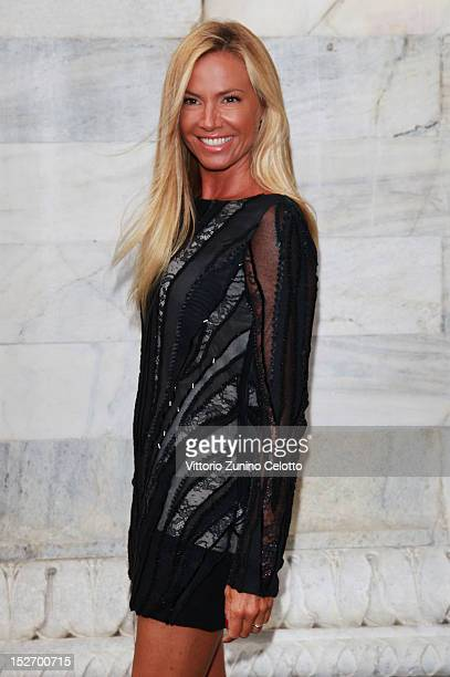 Federica Panicucci attends the Roberto Cavalli Spring/Summer 2013 fashion show as part of Milan Womenswear Fashion Week on September 24 2012 in Milan...