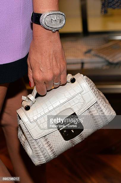 Federica Panicucci attends the Trussardi Cocktail Opening Boutique on June 29 2013 in Forte dei Marmi Italy