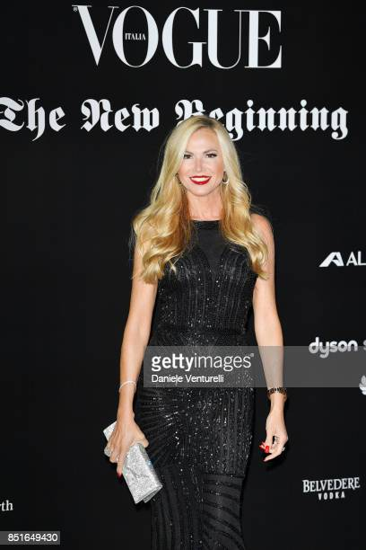 Federica Panicucci attends the Vogue Italia 'The New Beginning' Party during Milan Fashion Week Spring/Summer 2018 on September 22, 2017 in Milan,...