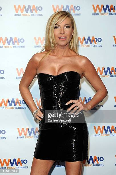 ACCESS *** Federica Panicucci attends the Wind Music Awards Backstage at the Arena of Verona on May 29 2010 in Verona Italy