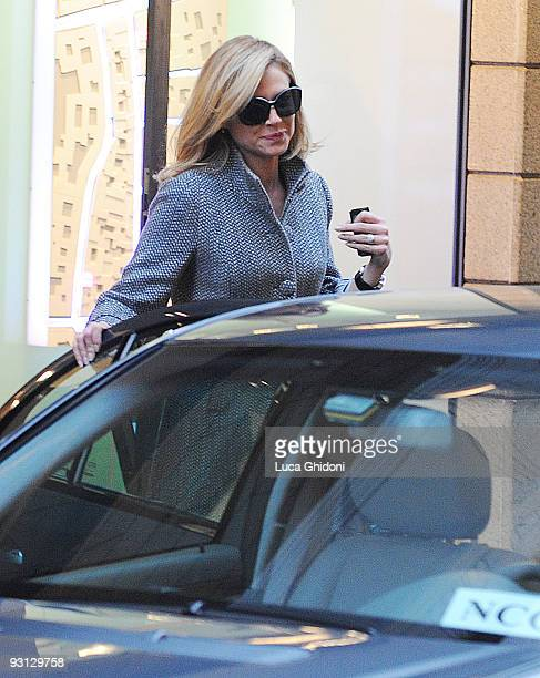 Federica Panicucci is seen shopping on November 17 2009 in Milan Italy