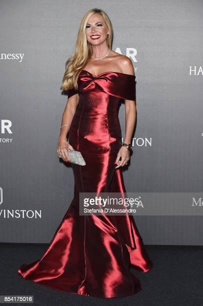 Federica Panicucci walks the red carpet of amfAR Gala Milano on September 21 2017 in Milan Italy