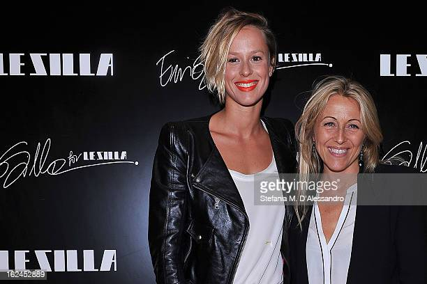 Federica Pellegrini and Monica Ciabattini attend Le Silla Presentation during Milan Fashion Week Womenswear Fall/Winter 2013/14 on February 23 2013...