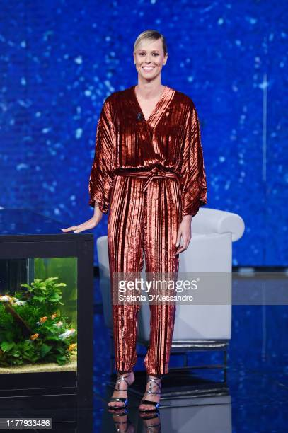 Federica Pellegrini attends Che Tempo Che Fa TV Show on September 29 2019 in Milan Italy
