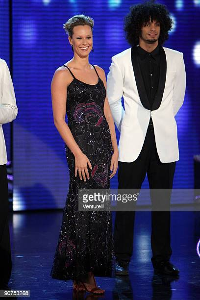 Federica Pellegrini attends the 2009 Miss Italy Competition during the final of the beauty contest on September 14 2009 in Salsomaggiore Terme near...