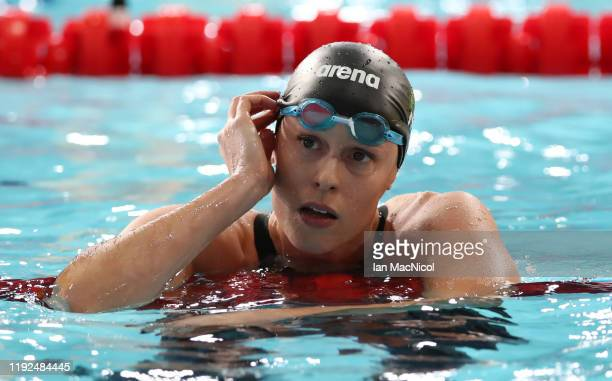 Federica Pellegrini of Italy competes in the heats of the Women's 200m Freestyle during day four of the LEN European Short Course Swimming...