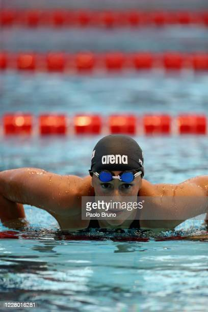 Federica Pellegrini of Italy looks on during the 57th Settecolli 2020 international swimming trophy at Foro Italico on August 12 2020 in Rome Italy