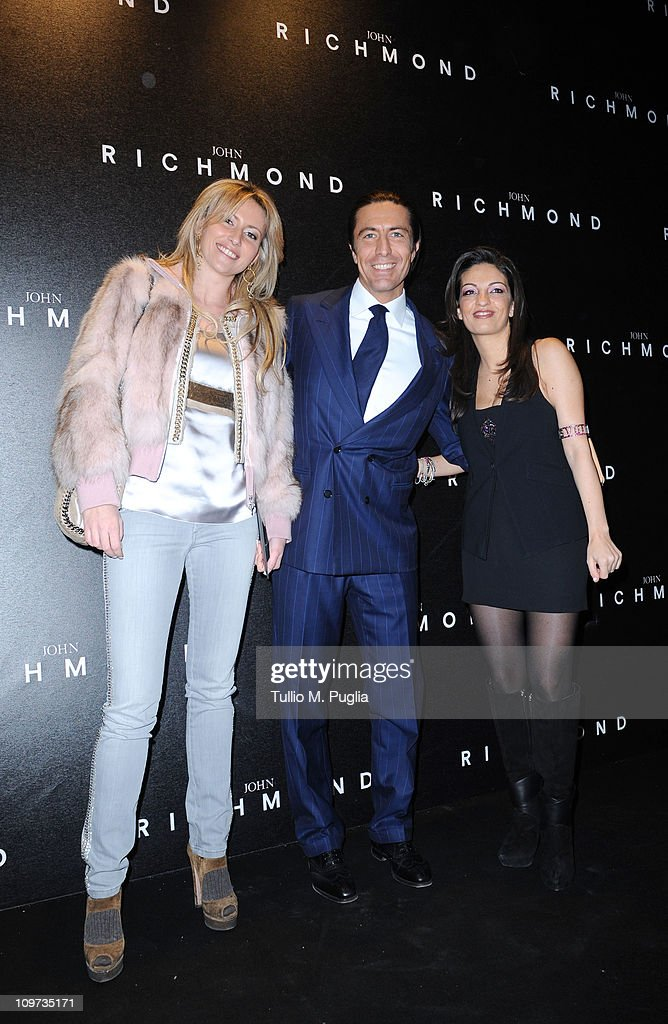 Federica Pesce, Luca Panerai and Alessandra Moschillo attend the John Richmond Fashion Show as part of Milan Fashion Week Womenswear Autumn/Winter 2011 on February 23, 2011 in Milan, Italy.