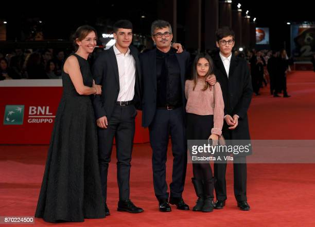 Federica Rizzo Paolo Genovese and their sons walk a red carpet for 'The Place' during the 12th Rome Film Fest at Auditorium Parco Della Musica on...