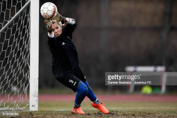 Federica Russo during a Juventus Women training session on February 2 2018 in Turin Italy