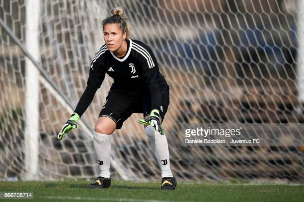 Federica Russo during a Juventus Women training session on October 26 2017 in Turin Italy
