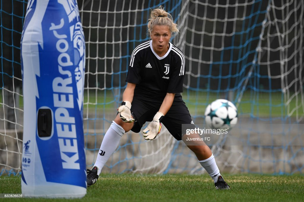 Federica Russo of Juventus Women during a training session on August 16, 2017 in Aymavilles near Aosta, Italy.