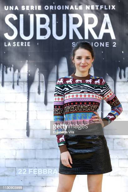 Federica Sabatini attends a photocall for Netflix Suburra The Series season 2 at Casa del Cinema on February 20 2019 in Rome Italy
