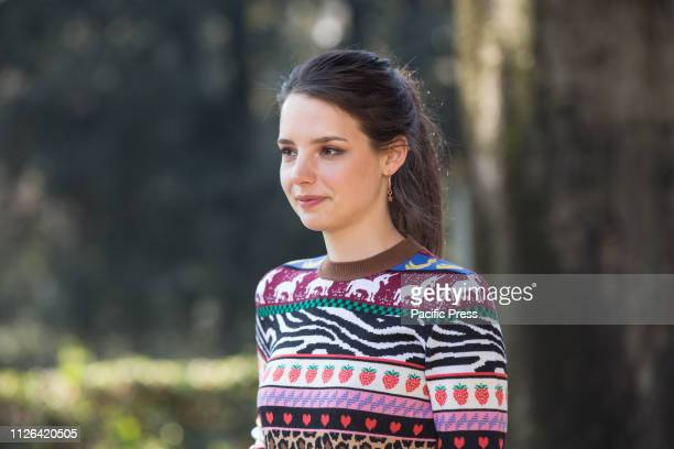 Federica Sabatini during the photocall in Rome of the second season of Italian fiction Suburra