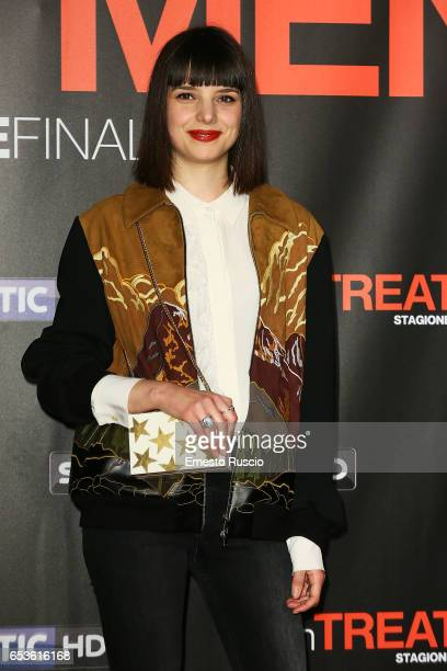 Federica Sabatini walks a red carpet for 'In Treatment' at Officine Farneto on March 15 2017 in Rome Italy