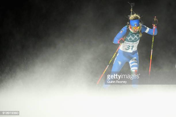 Federica Sanfilippo of Italy competes during the Women's Biathlon 75km Sprint on day one of the PyeongChang 2018 Winter Olympic Games at Alpensia...
