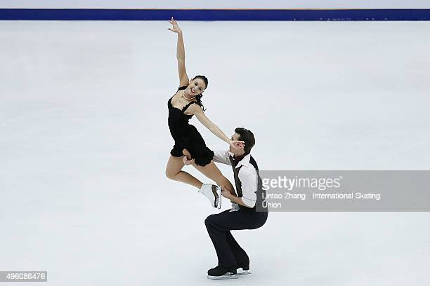 Federica Testa and Lukas Csolley of Slovakia perform during the Ice Dancing short Dance on day two of Audi Cup of China ISU Grand Prix of Figure...