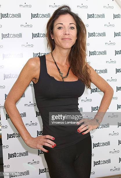 Federica Torti attend the Puro and Just Cavalli event to unveil the new smartphone covers collection on September 3 2013 in Milan Italy