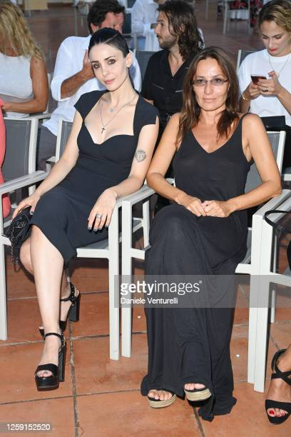 Federica Vincenti and Maria Sole Tognazzi attend the fifth day of Filming Italy Sardegna Festival 2020 at Forte Village Resort on July 26, 2020 in...