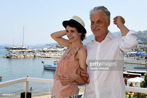 Federica Vincenti and Michele Placido attend 2015 Ischia Global Film & Music Fest - Day 4 on July 16, 2015 in Ischia, Italy.