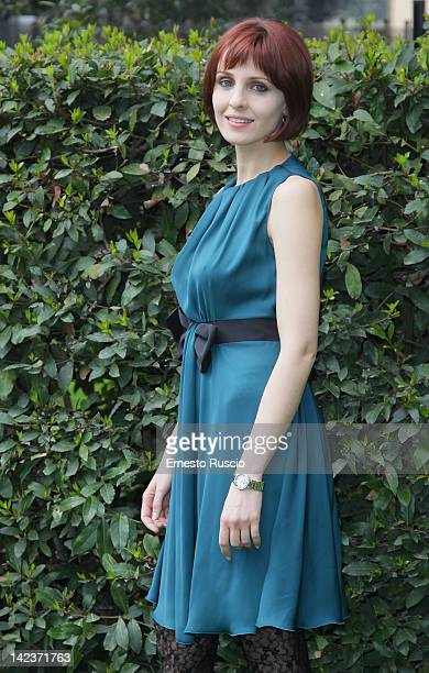 Federica Vincenti attends the 'Nero Wolf' photocall at RAI on April 3 2012 in Rome Italy