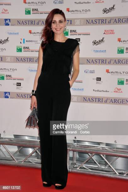 Federica Vincenti attends the nominees presentation of Nastri D'Argento at Maxxi Museum on June 6 2017 in Rome Italy