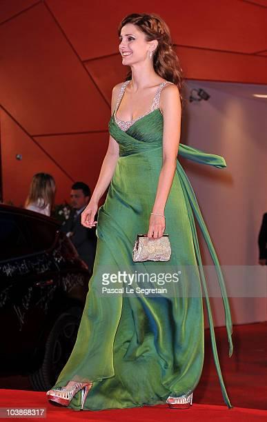 Federica Vincenti attends the Vallanzasca premiere during the 67th Venice Film Festival at the Sala Grande Palazzo Del Cinema on September 6 2010 in...