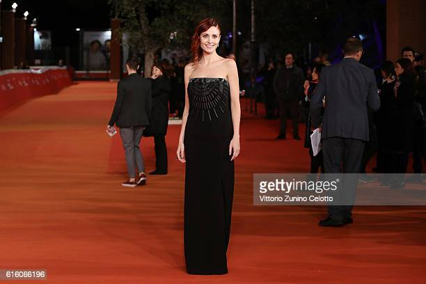 Federica Vincenti walks a red carpet for '7 Minuti' during the 11th Rome Film Festival at Auditorium Parco Della Musica on October 21, 2016 in Rome,...