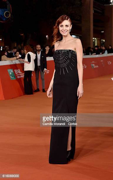 Federica Vincenti walks a red carpet for '7 Minuti' during the 11th Rome Film Festival on October 21 2016 in Rome Italy