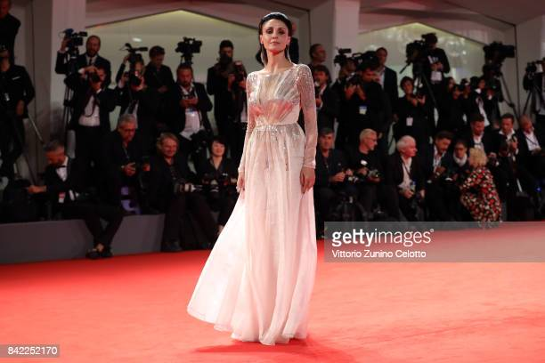 Federica Vincenti walks the red carpet ahead of the 'The Leisure Seeker ' screening during the 74th Venice Film Festival at Sala Grande on September...
