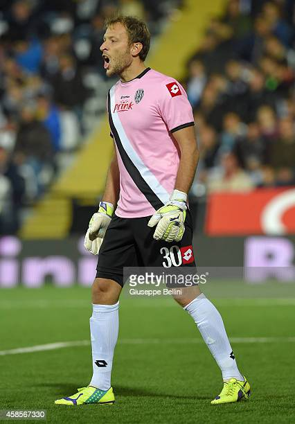 Federico Agliardi of Cesena in action during the Serie A match between AC Cesena and Hellas Verona FC at Dino Manuzzi Stadium on November 3 2014 in...