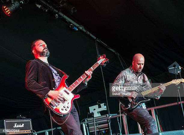 Federico Amorosi and Bruno Previtali of Claudio Simonetti's Goblin perform at the Lunar Festival on June 5 2015 in TanworthinArden United Kingdom