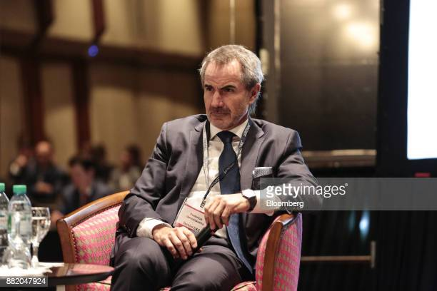 Federico Barroetavena chief financial officer of Techint Ingenieria y Construcciones SL listens during the Argentina SubSovereign and Infrastructure...