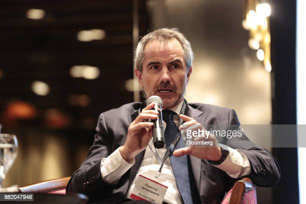 Federico Barroetavena chief financial officer of Techint Ingenieria y Construcciones SL speaks during the Argentina SubSovereign and Infrastructure...