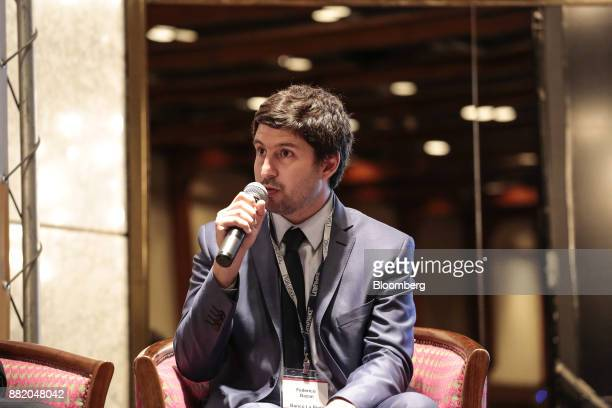 Federico Bazan chiefe executive officer of the Nuevo Banco de la Rioja SA speaks during the Argentina SubSovereign and Infrastructure Finance Summit...