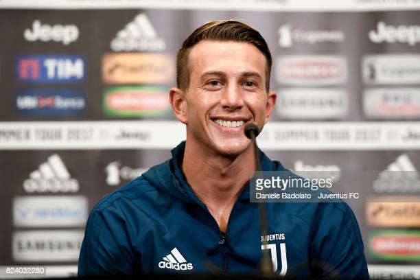 Federico Bernardeschi attends a press conference on July 28 2017 in Boston City