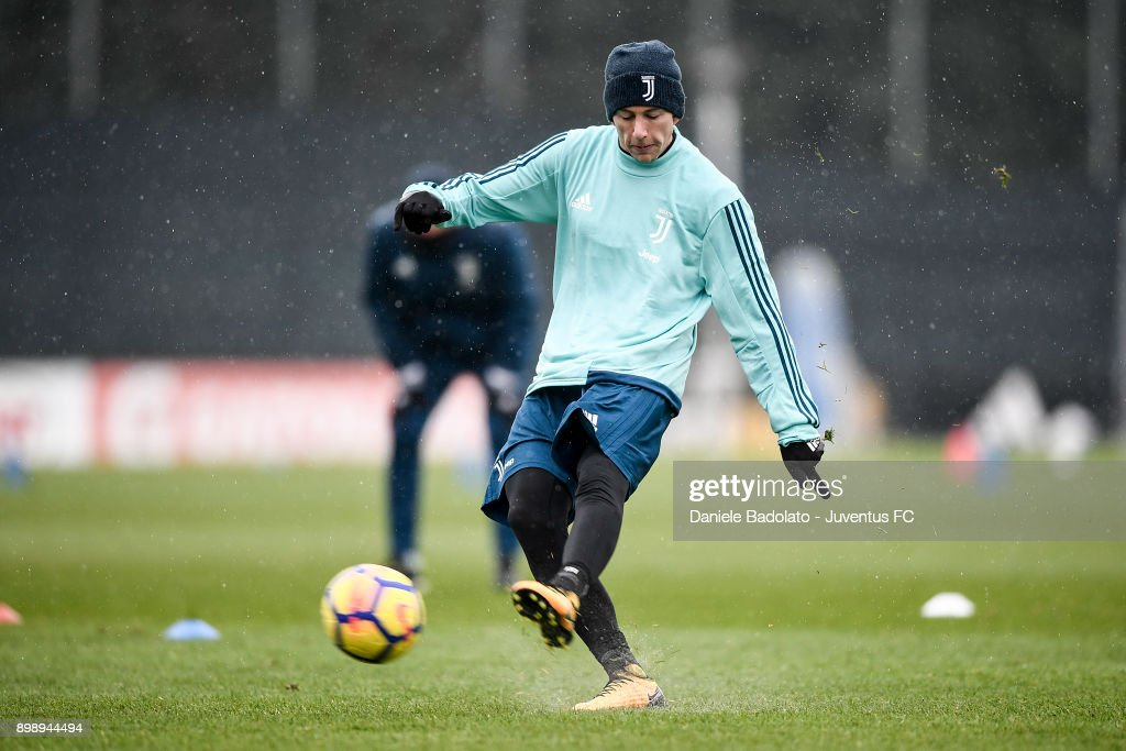 Federico Bernardeschi during a Juventus Training Session at Juventus Center Vinovo on December 27, 2017 in Vinovo, Italy.