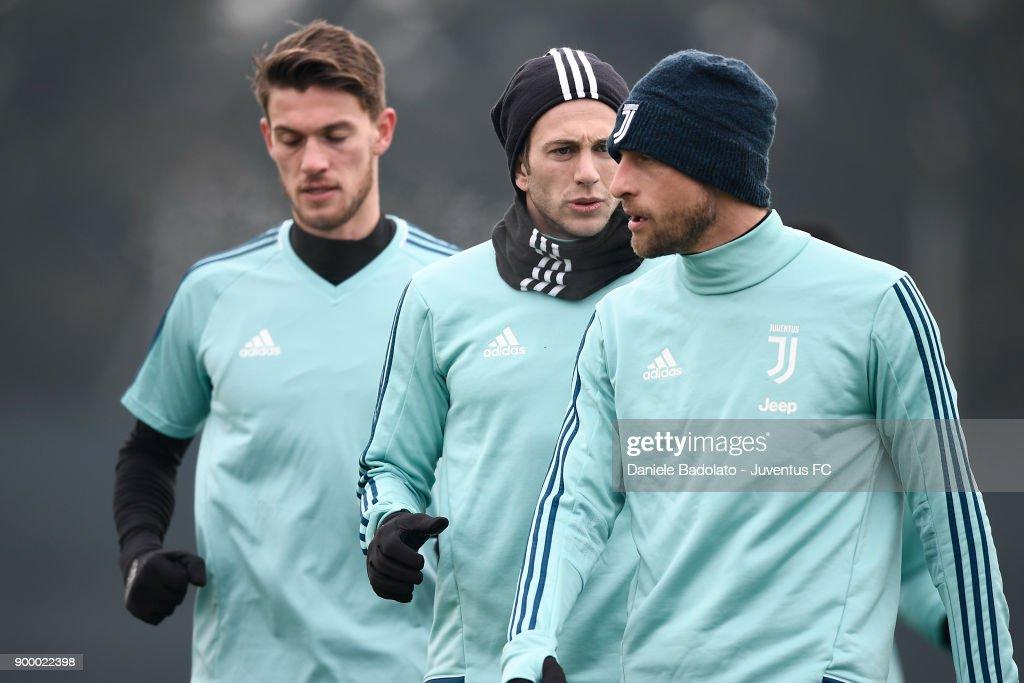 Federico Bernardeschi during a Juventus Training Session at Juventus Center Vinovo on December 31, 2017 in Vinovo, Italy.