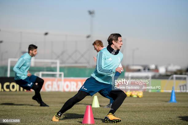 Federico Bernardeschi during a Juventus Training Session at Juventus Center Vinovo on January 18 2018 in Vinovo Italy